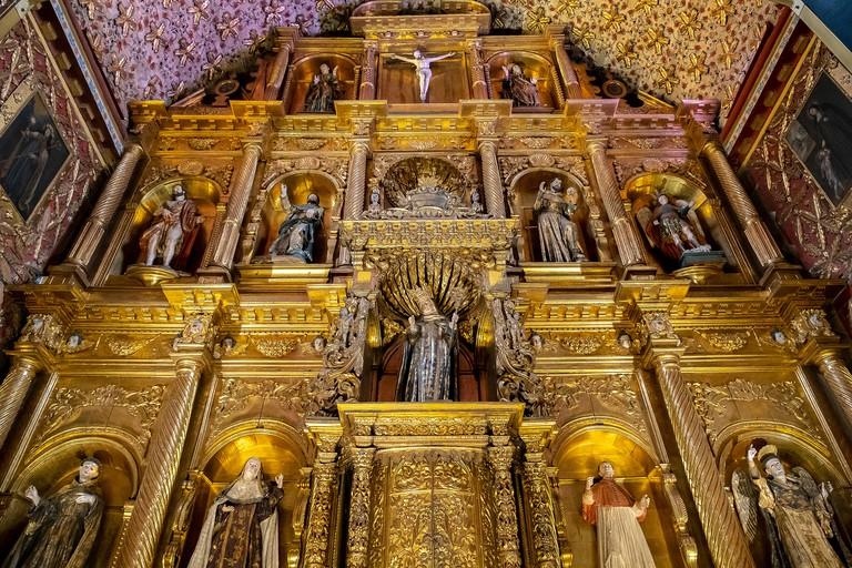 Santa Clara museum, church, detail of the altarpiece, Bogota, Colombia