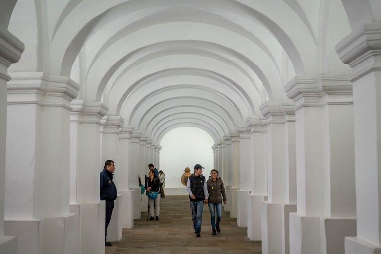 Gallery in National Museum of Colombia, Bogota, Colombia