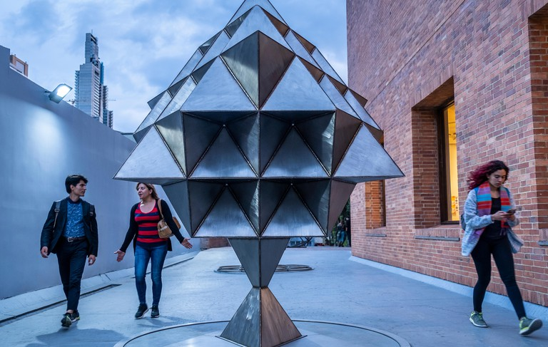 `Structures of the void´by Lidia Azout, in the main gate of Modern Art Museum, MAMBO, Museum, Bogota, Colombia