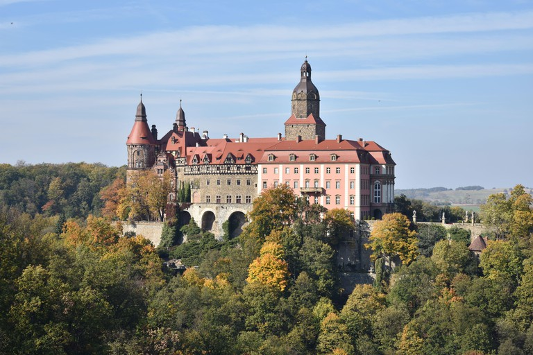 Castel Ksiaz in Poland, lower silesia