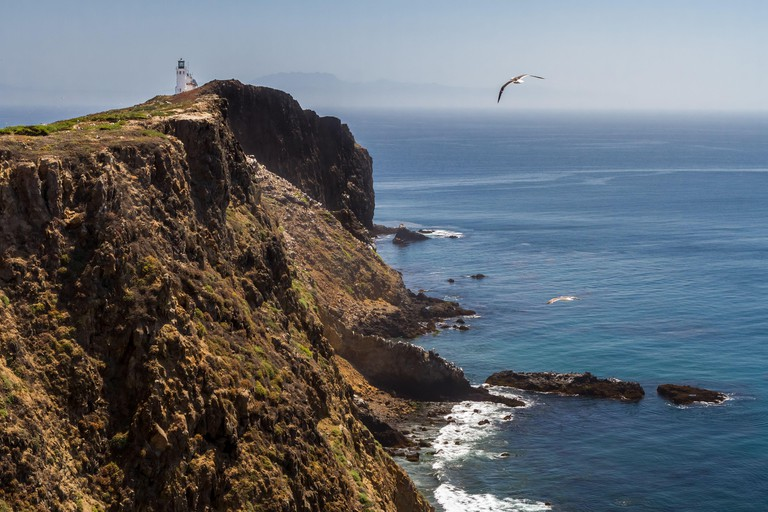 Anacapa Light - A light beacon at this location has guided mariners since 1912. East Anacapa Island, Channel Islands National Park, California, USA
