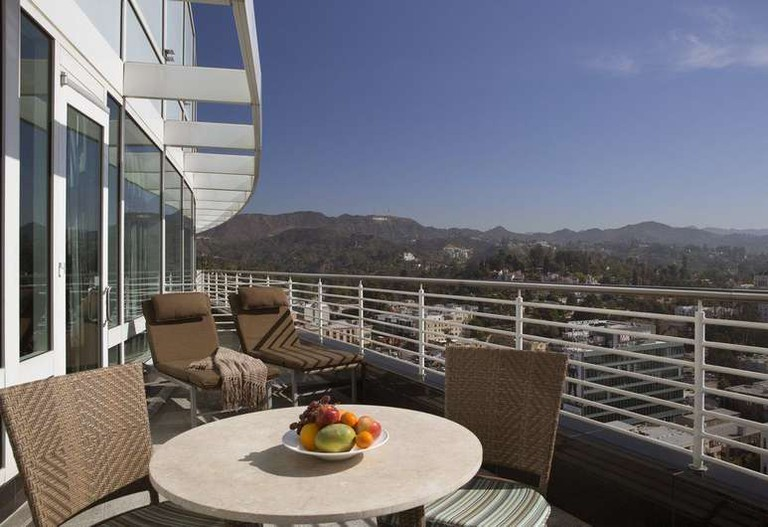 Each room at the Loews Hollywood Hotel has an incredible view