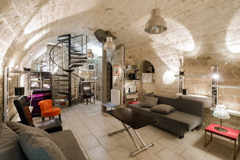 The Medieval stone walls of this duplex are its defining feature