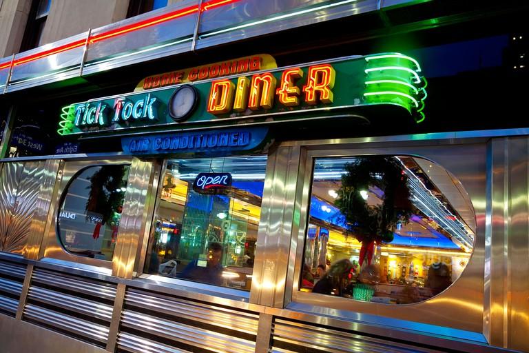 United States of America, New York, New York City, Diner in Midtown Manhattan