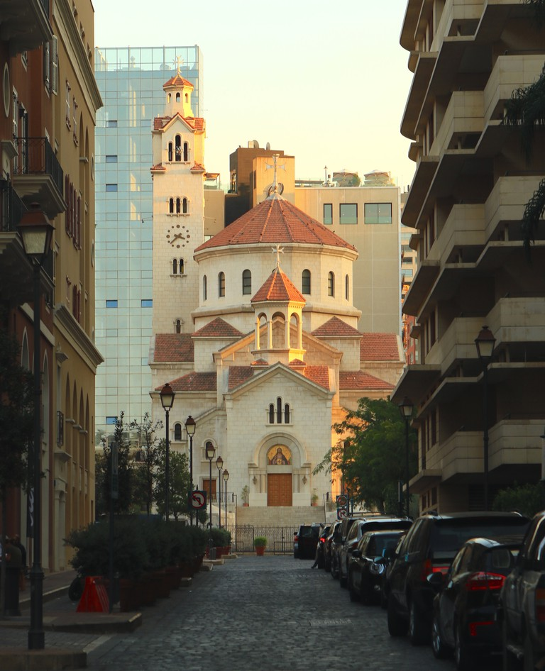This Armenian Catholic cathedral towers over the area southeast of Beirut's downtown