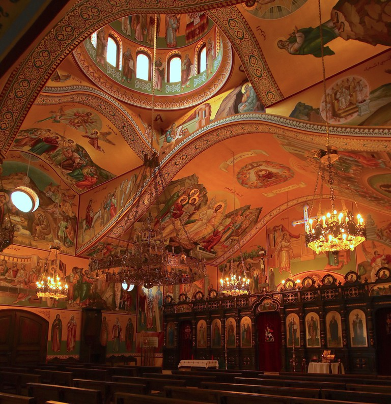 St George Orthodox Church is bursting with colour