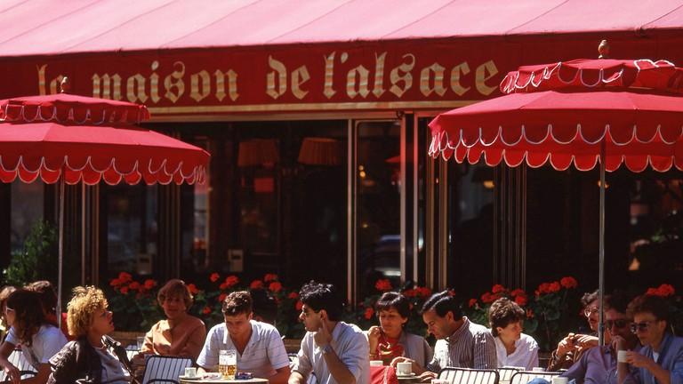 La Maison de L'Alsace restaurant, Avenue des Champs-Elysees, Paris, Ile-de-France, France