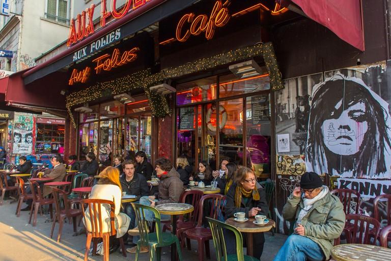 Aux Folies in Paris.