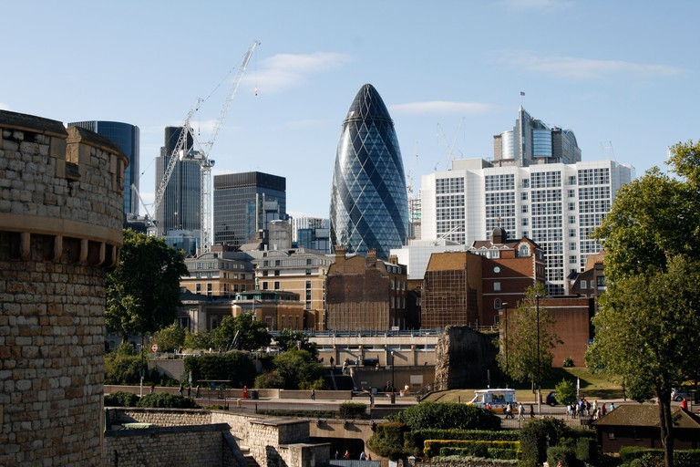 The Gherkin is one of London's most distinctive skyscrapers