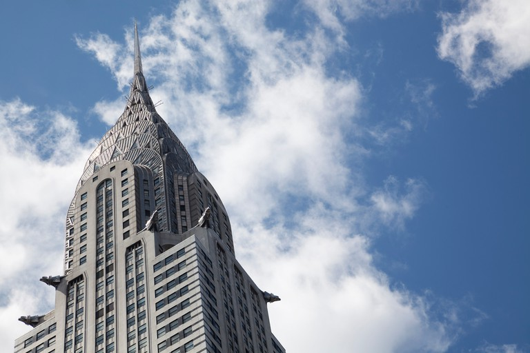 Chrysler Building at 42nd St and Lexington Avenue, New York City.