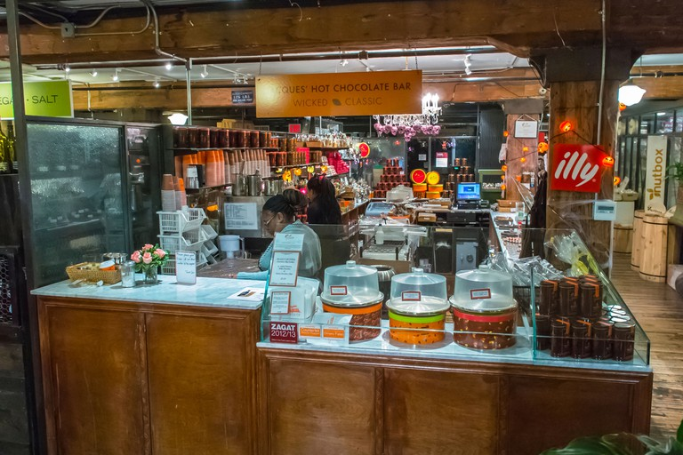 New York City, NY, USA, Women CLerks Working in French Chocolate Shop, Jacques Torres, in the Chelsea Market, Shopping Center, Manhattan