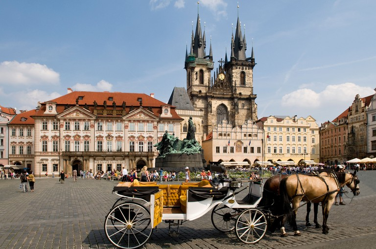 Church of Our Lady Before Tyn, Old Square, Prague.