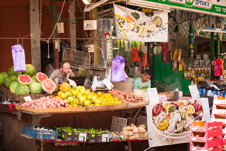 Shuk HaCarmel (Carmel Market) dates back to the 1920s