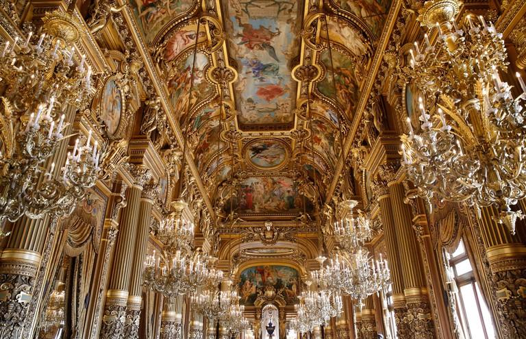 Palais Garnier. Paris Opera. Celling of the Grand Foyer.