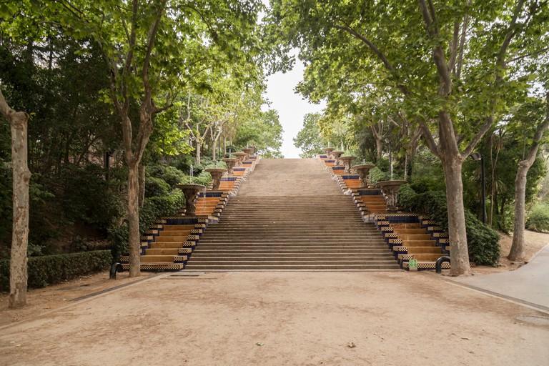 Passeig Jean Nicolas Forestier,Parc de Montjuic. Barcelona.