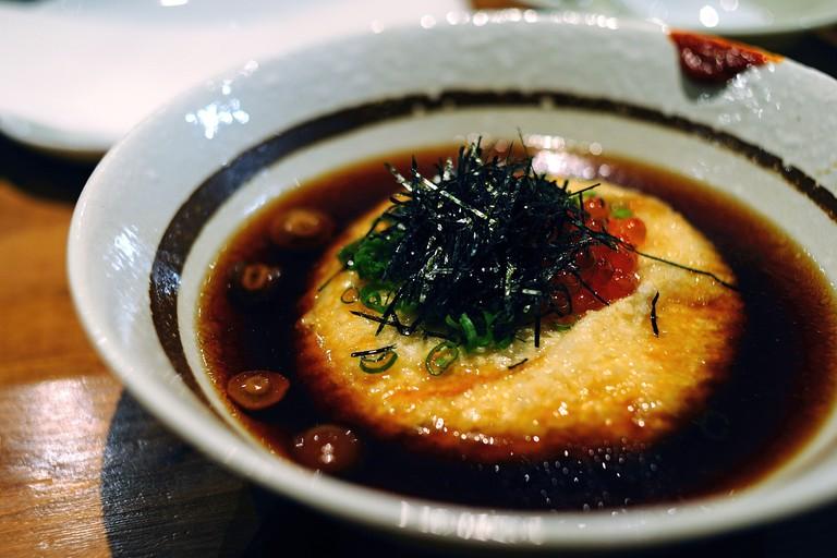 Raku grill agedashi tofu