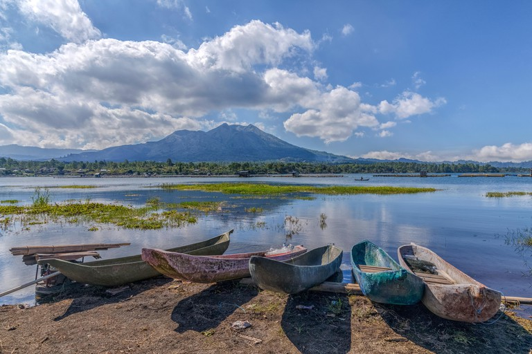 Mount Batur, Mount Gunung Abang, Bali in Indonesia.