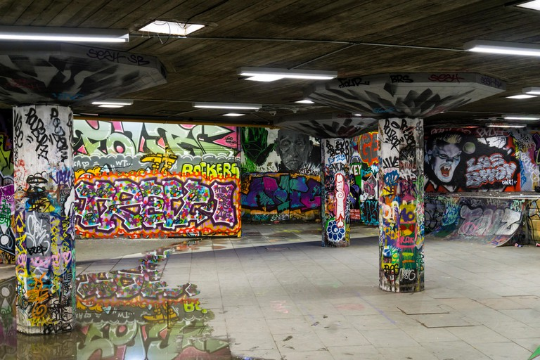 The Southbank Undercroft attracts skaters from across the city