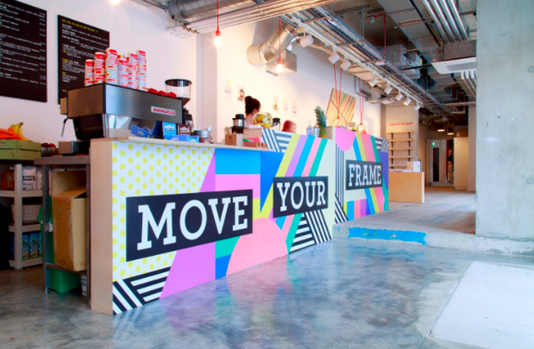 Frame's anti-desk yoga class promises to improve participants' posture