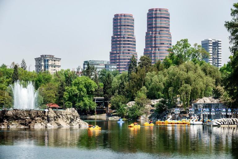 Mexico City Mexico Ciudad de Federal District Distrito DF D.F. CDMX Polanco Hispanic Mexican Bosque de Chapultepec forest park parque lake paddleboats