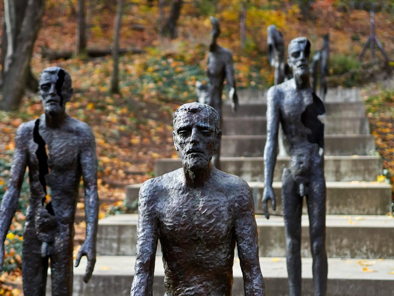 The Memorial to the Victims of Communism displays the seven phases of a man living in a totalitarian state