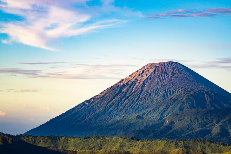 Mount Gunung semeru, Tengger Semeru National Park in East Java, Indonesia.