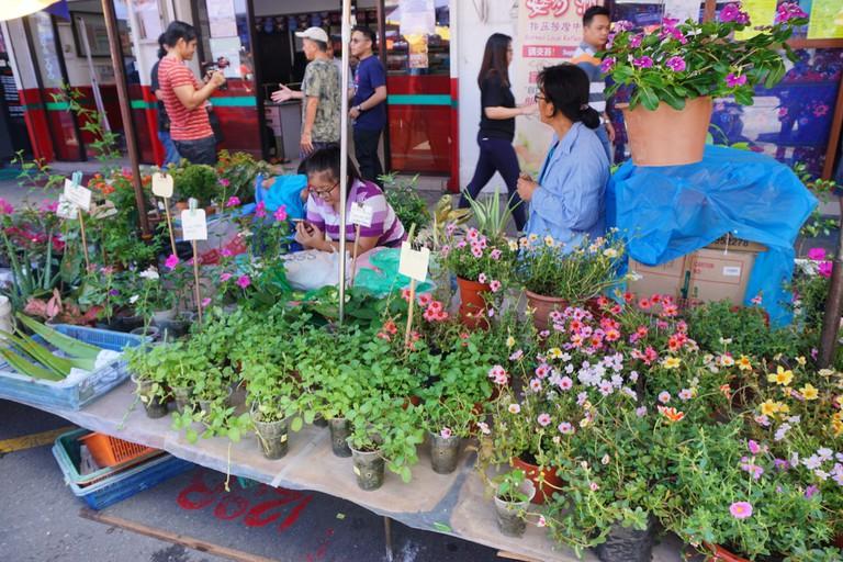 The Sunday Market at Gaya Street, Kota Kinabalu, Sabah, Malaysia.