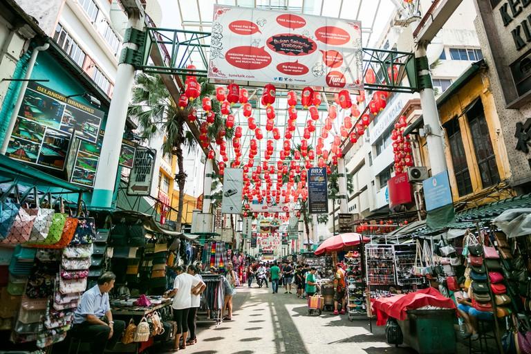 Petaling Street in Kuala Lumpur, Malaysia.