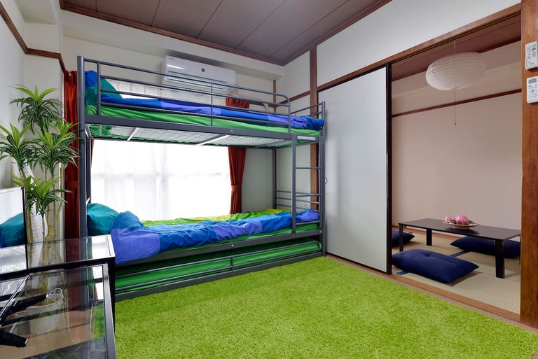 This one-bedroom apartment near Skytree is colourful and convenient