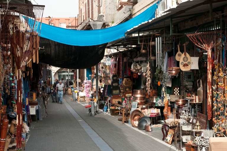 The vendors at Shuk Hapishpishim (Jaffa Flea Market) sell a range of items