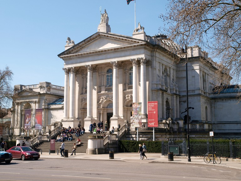 The Tate Britain art gallery for British art from 1500 to the present day. Millbank London England