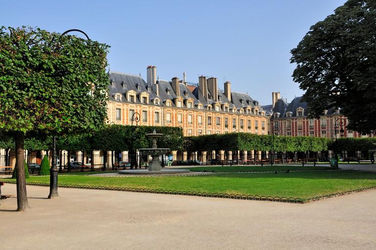 Place des Vosges, Paris, France.
