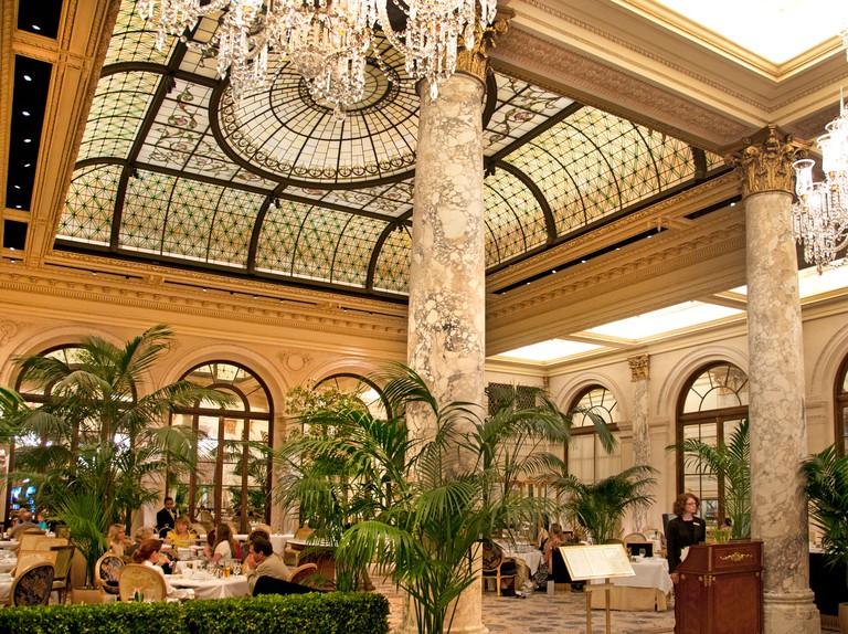 The Plaza Hotel, Palm Court New York City Manhattan 5th Avenue