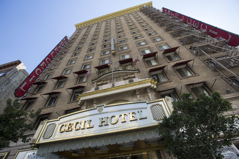Los Angeles, California, USA. 22nd February 2013. A view of Cecil Hotel in downtown Los Angeles on Friday, 22, 2013. The coroner's office conducted an autopsy on a 21-year-old Canadian tourist who was missing for weeks before being found in a water tank a