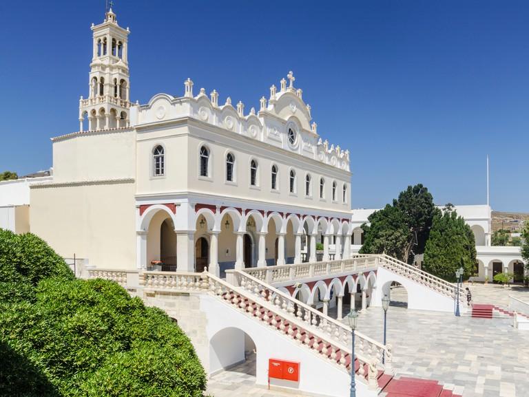 Tinos Church of Panagia Evangelistria, Tinos Town, Tinos Island, Cyclades, Greece