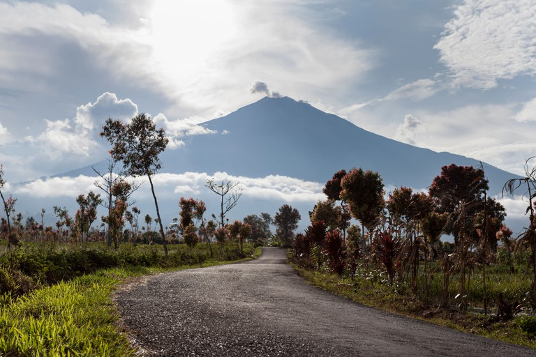 Mount Kerinci viewed from Pelompek, Sumatra, Indonesia.