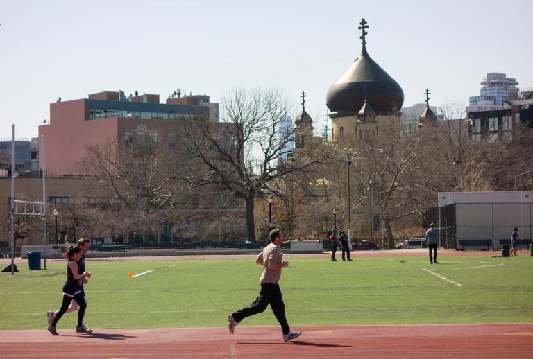 McCarren Park in Greenpoint Brooklyn NY