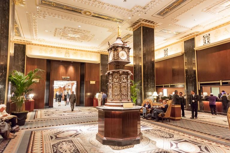 Lobby of the Waldorf Astoria Hotel, New York City, USA