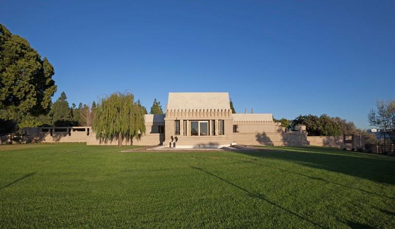 Frank Lloyd Wright's Hollyhock House in Barnsdall Art Park, Hollywood, Los Angeles