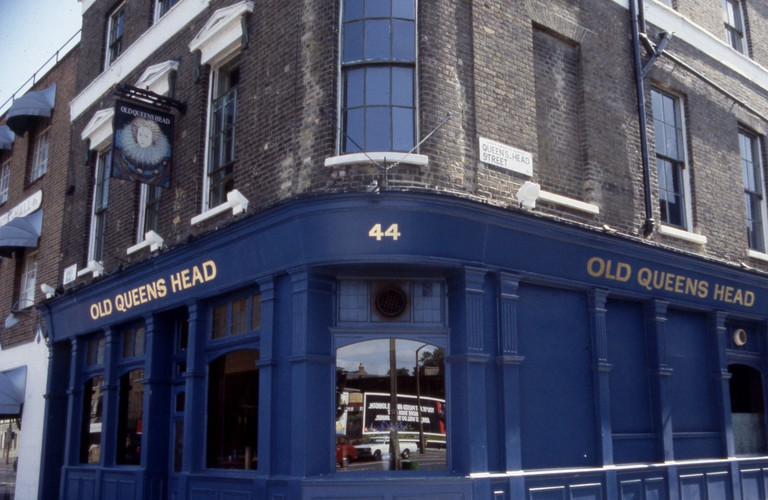 The Old Queen's Head, Essex Road, Islington London c 1990 Photograph by Tony Henshaw