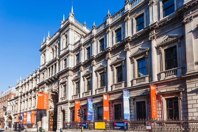 The Royal Academy of Arts hosts a number of exhibitions