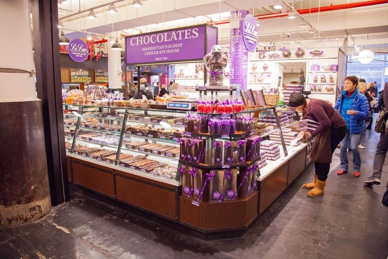 Li-Lac Chocolates at the Chelsea Market, New York City, United States of America.