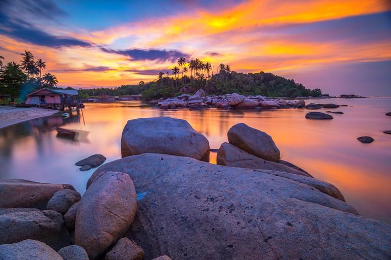 Beach at sunset, Bintan, Tanjung Pinang, Riau Islands, Indonesia