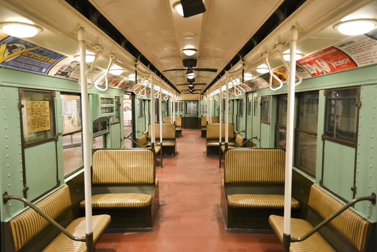 The New York Transit Museum has its own vintage train