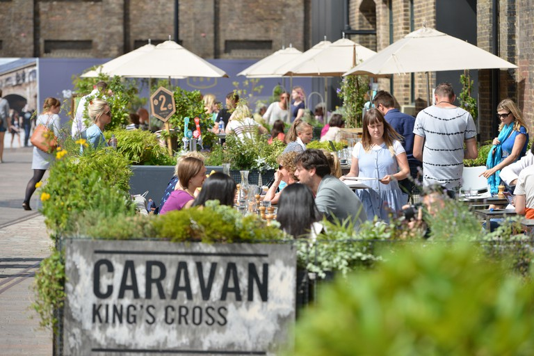 Caravan Restaurant, Granary Square, Kings Cross, London