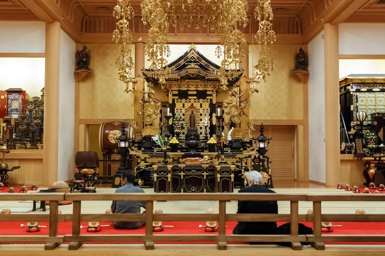 Zojoji Temple in Tokyo, Japan