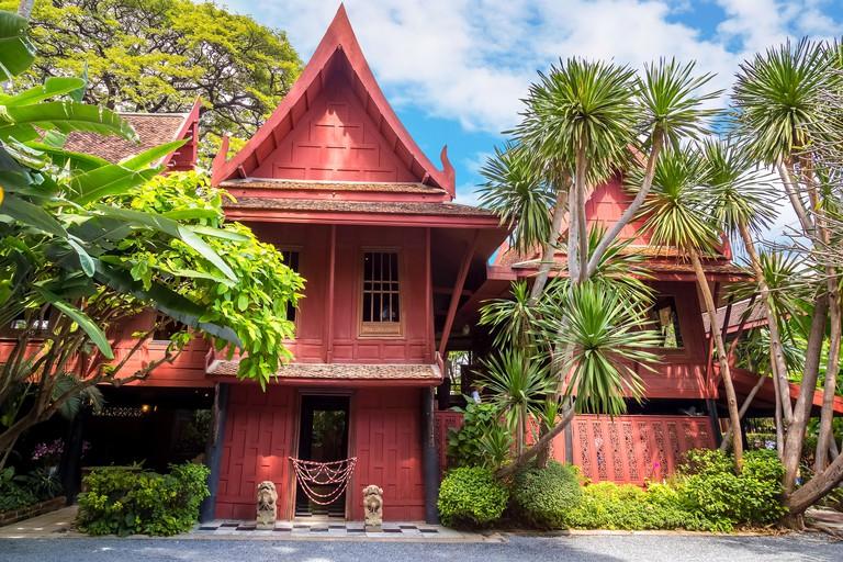 BANGKOK, THAILAND - DECEMBER 30: Jim Thompson Museum in Bangkok, Thailand on December 30, 2014. The House of   the founder of the world renowned Jim T