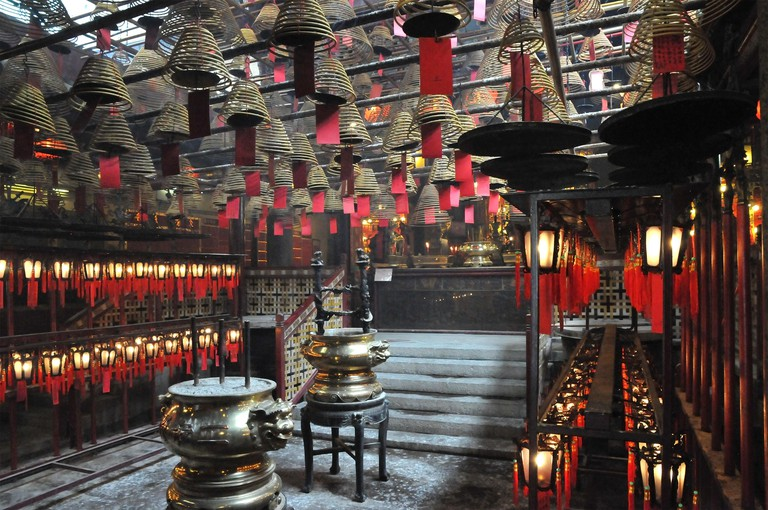 Inside the little Hong Kong Tin Hau temple