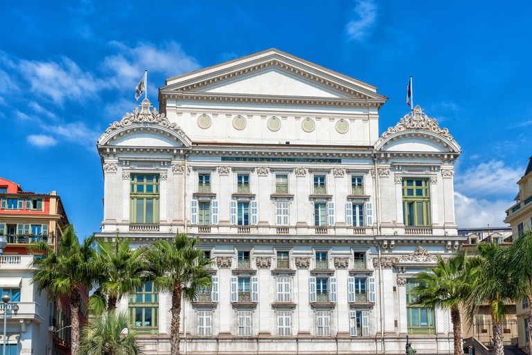 Opera house in city of Nice, France.
