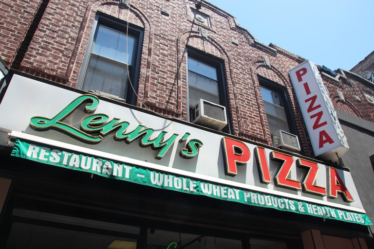 Travolta bought two slices of Margehrita in his role of Tony Manero in the classic disco movie Saturday Night Fever at this food stall Lenny's Pizza on 86th Street in Bensonhurst.